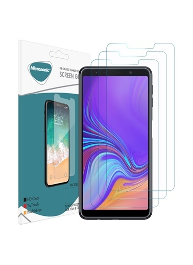 Microsonic Samsung Galaxy A7 2018 Ekran Koruyucu Nano Cam (3'lü Paket) Renksiz